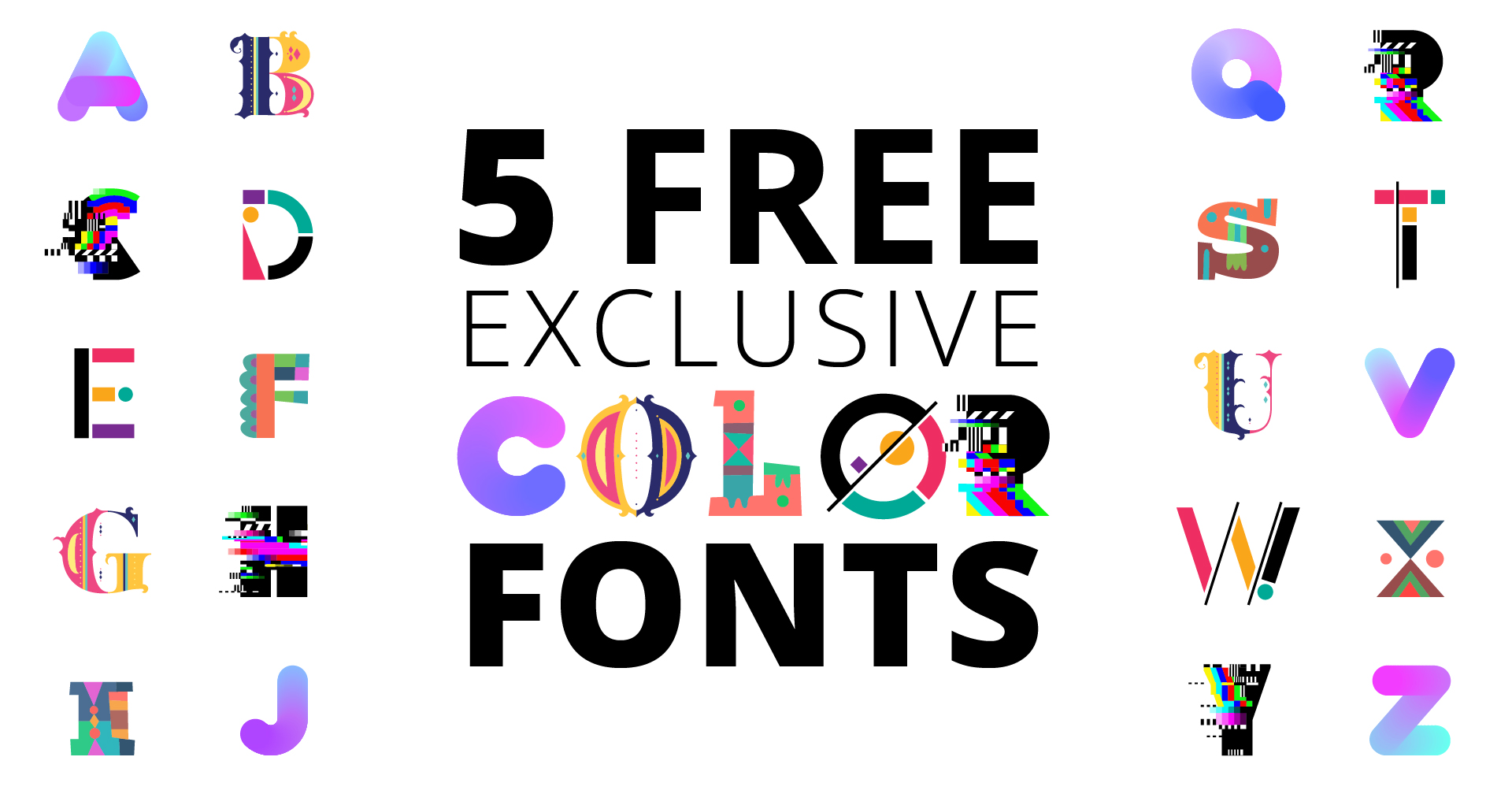 #ColorFontWeek. FREE Downloads!